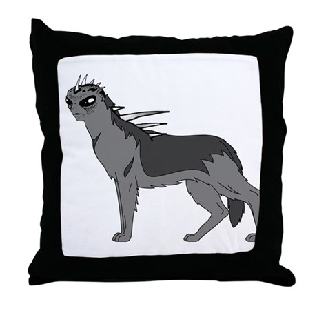 Dog-like Chupacabra Throw Pillow