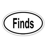 FINDS Oval Decal