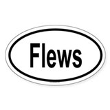 FLEWS Oval Decal