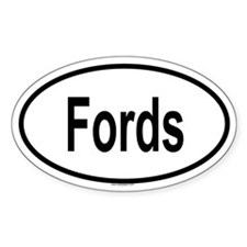 FORDS Oval Decal