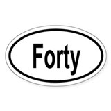 FORTY Oval Decal