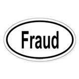 FRAUD Oval Decal