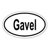 GAVEL Oval Decal