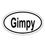 GIMPY Oval Decal