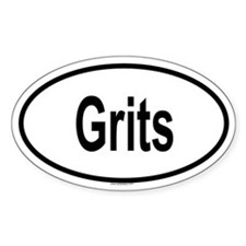 GRITS Oval Decal