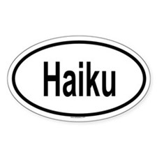 HAIKU Oval Decal
