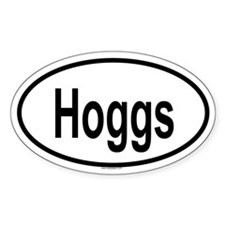 HOGGS Oval Decal