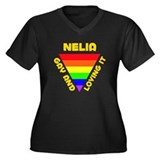 Nelia Gay Pride (#009) Women's Plus Size V-Neck Da