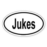 JUKES Oval Decal