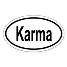 KARMA Oval Decal