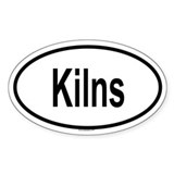 KILNS Oval Bumper Stickers