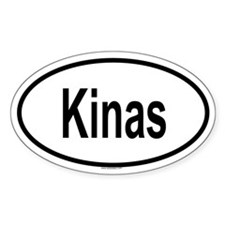 KINAS Oval Decal