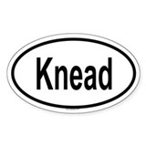 KNEAD Oval Decal