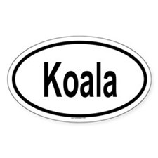 KOALA Oval Decal