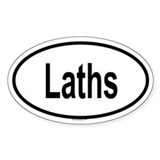 LATHS Oval Decal