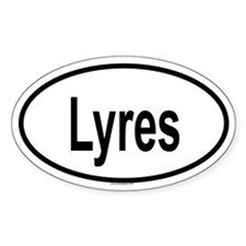 LYRES Oval Decal