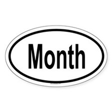 MONTH Oval Decal