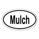MULCH Oval Decal
