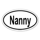 NANNY Oval Decal