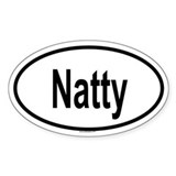 NATTY Oval Decal