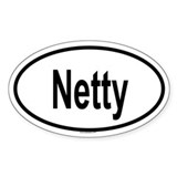 NETTY Oval Decal