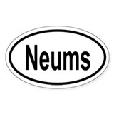 NEUMS Oval Decal