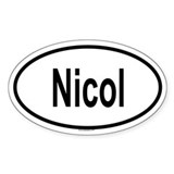 NICOL Oval Decal