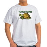 Turtle Homes Cartoon Turtle Grey T-Shirt