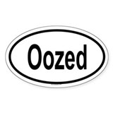 OOZED Oval Decal