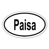 PAISA Oval Decal