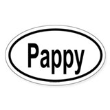 PAPPY Oval Decal
