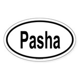 PASHA Oval Decal