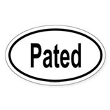 PATED Oval Decal