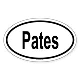 PATES Oval Decal