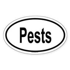 PESTS Oval Decal