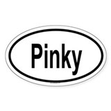 PINKY Oval Decal