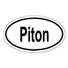 PITON Oval Decal