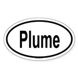PLUME Oval Decal