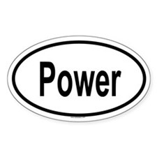 POWER Oval Decal