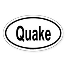 QUAKE Oval Decal
