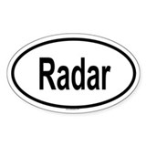 RADAR Oval Decal