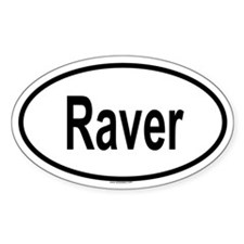 RAVER Oval Decal