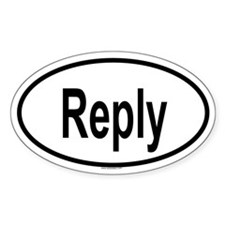 REPLY Oval Decal