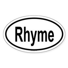 RHYME Oval Decal