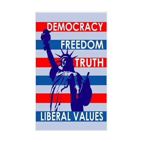 Our Liberal Values bumper sticker