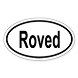 ROVED Oval Decal