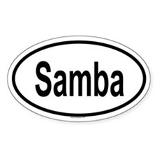 SAMBA Oval Decal