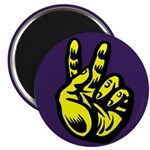 Yellow Peace Hand (Magnet)