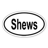 SHEWS Oval Decal