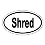 SHRED Oval Decal